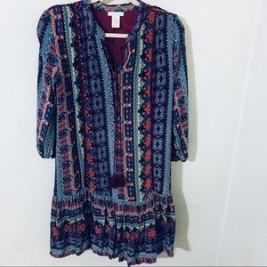 Klozlyne Boho Printed Dress Size Small